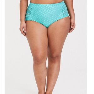 torrid Swim - Torrid Disney Ariel Lattice Mesh Swim Bottom